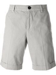 Brunello Cucinelli Pleated Cuffed Straight Leg Shorts Nude And Neutrals