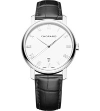 Chopard Classic 18Ct White Gold And Alligator Leather Watch