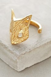 Anthropologie Folded Fox Ring Gold