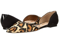 Sam Edelman Riley New Nude Leopard Women's Dress Flat Shoes Animal Print