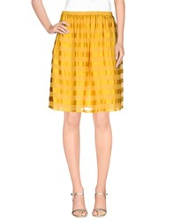 Attic And Barn Attic And Barn Skirts Knee Length Skirts Women Yellow