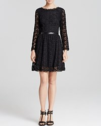 Joie Dress Baronessa Lace Caviar Caviar
