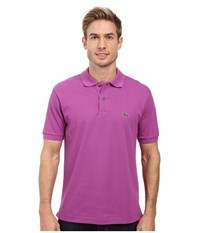 Lacoste L1212 Classic Pique Polo Shirt Irresistible Men's Short Sleeve Knit Burgundy