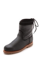 Penelope Chilvers Zuri Shearling Booties Black