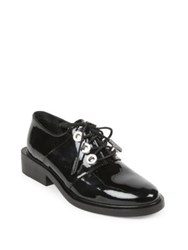 Kenzo Patent Leather And Metal Oxfords Black