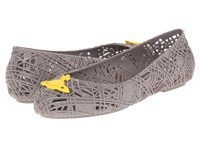 Vivienne Westwood Anglomania Melissa Scribble Tartan Grey Yellow Women's Shoes Gray