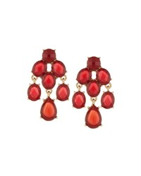 Lydell Nyc Crystal Chandelier Earrings Red Other