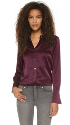 Ramy Brook Kristi Button Down Blouse Cranberry