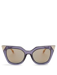Fendi Iridia Cat Eye Sunglasses Blue Multi