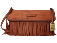 Frye Heidi Fringe Crossbody Whiskey Soft Vintage Leather Cross Body Handbags Tan
