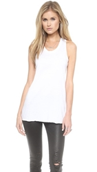 Zoe Karssen Loose Fit Racer Back Tank White