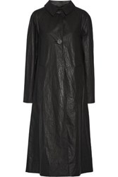 Christophe Lemaire Oversized Coated Cotton Blend Trench Coat Charcoal
