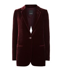 Pinko Velvet Split Back Blazer Female Burgundy