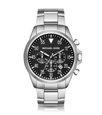 Michael Kors Gage Silver Tone Watch