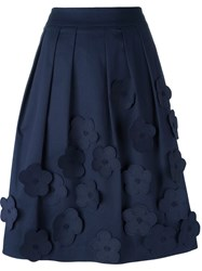 Jimi Roos 'Flowers' Applique Skirt Blue