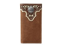 Ariat Ivory Overlay Concho Rodeo Wallet Tan Wallet
