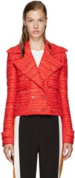 Altuzarra Red Tweed Newport Jacket
