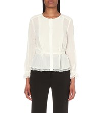 Claudie Pierlot Cherry Crepe Shirt Ecru