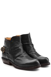 Fiorentini Baker And Leather Buckle Back Ankle Boots Black