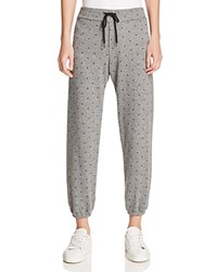 Current Elliott The Varsity Star Print Sweatpants 100 Bloomingdale's Exclusive Heather Grey Mini Polka Stars