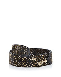 Rebecca Minkoff Studded Guitar Handbag Strap Black Light Gold