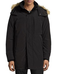 Marc New York Niagra Faux Fur Hood Parka Coat Black