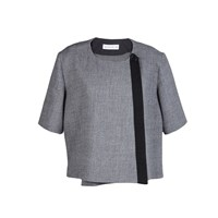 Horace Ng Wool Crepe Jacket Black Grey