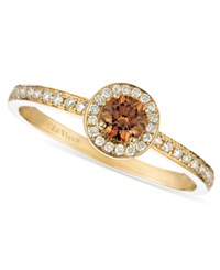 Le Vian Chocolate And White Diamond Circle 3 8 Ct. T.W. In 14K Gold