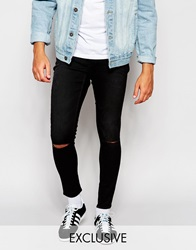 Cheap Monday Exclusive Jeans Low Spray Extreme Super Skinny Washed Black Ripped Knee Washedblack