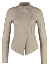 Tony Cohen Annecy Leather Jacket Babel Beige