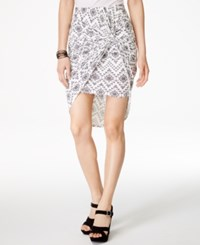 Hot Gal Izzy And Me Juniors' Knot Front Skirt Aztec Gray