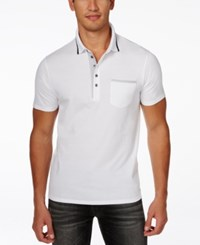 Guess Men's Stream Pocket Polo True White