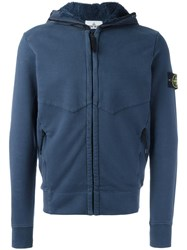 Stone Island Hooded Sweathirt Blue