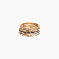Madewell Filament Stacking Rings Vintage Gold