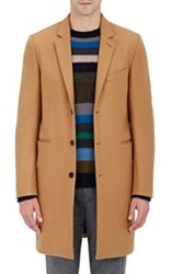 Paul Smith Ps By Men's Three Button Overcoat Tan