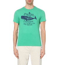Ralph Lauren Graphic Cotton Jersey T Shirt Green