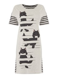 Therapy Climbing Cat Sleep Tee Grey