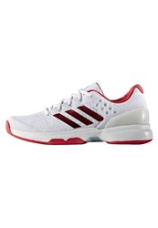 Adidas Performance Adizero Ubersonic 2.0 Outdoor Tennis Shoes White Ray Red Clear Grey