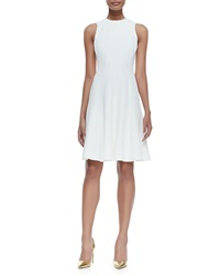 Ralph Lauren Black Label Amarine Sleeveless Fit And Flare Dress Ivory