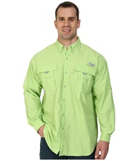 Columbia Bahama Ii Long Sleeve Shirt Extended Jade Lime Men's Long Sleeve Button Up Green