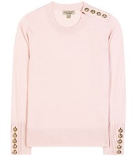 Burberry Embellished Cashmere Sweater Pink