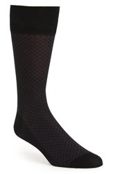 John W. Nordstromr Men's Big And Tall Nordstrom Diamond Socks Black Purple