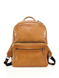 Coach Glossy Leather Backpack Saddle