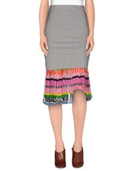 Dandg D And G 3 4 Length Skirts Light Grey