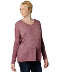 A Pea In The Pod Maternity Long Sleeve Burnout Tee Dark Red