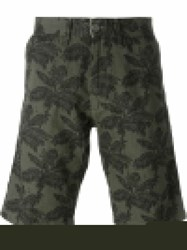 Carhartt 'Johnson' Palm Tree Print Bermuda Shorts Green