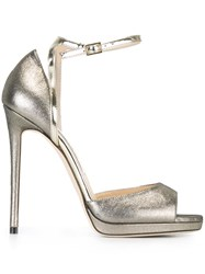 Jimmy Choo 'Pearl 120' Sandals Metallic
