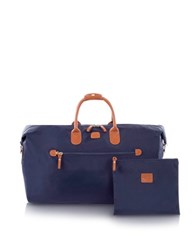 Bric's X Travel Large Foldable Last Minute Holdall In A Pouch Blue