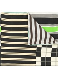 Pierre Louis Mascia Pierre Louis Mascia Striped Print Square Pocket White