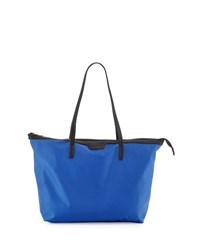Neiman Marcus Miley Nylon Zip Top Tote Bag Cobalt